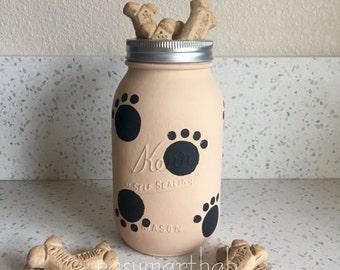 Dog treat container. Mason jar. Treats. Storage. Dog treat. Biscuits