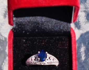 SImply Beautiful Silver Sapphire Ring