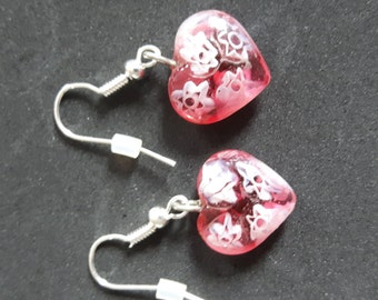 Heart shaped earrings.