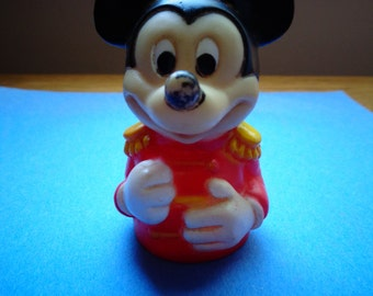 Vintage Rubber Mickey Mouse Parade Finger Puppet Toy Made in Taiwan