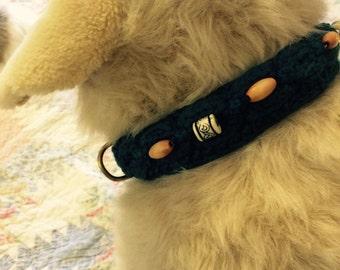 Hand knit  dog collar