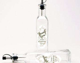 12 pcs Personalized Silhouette Olive Oil Bottle Favors (CM2083715)