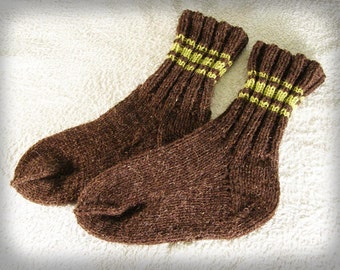 Hand knit socks slippers for women and for men, Knitted Wool Socks, knitted slippers socks, christmas birthday present (3 days to order)