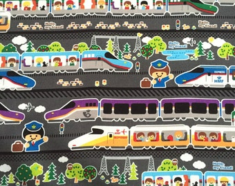Fabric - Hello my friend Trains - Kokka-Fabric
