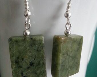 Green Serpentine Earrings