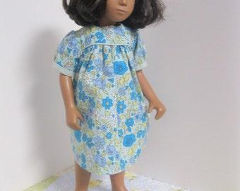 Simple Flowered Classic Yoke Dress for Sasha