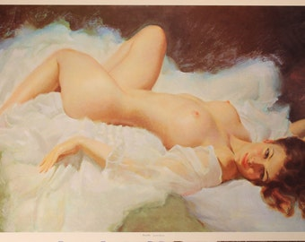 Nicolle by Earl Moran Vintage Lithograph