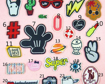 Embroidered Applique sew on patch---iron patch ---  No.6