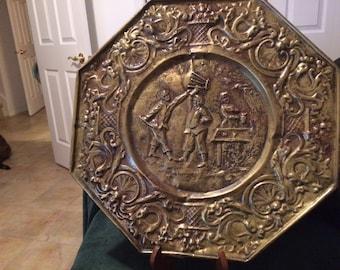 Large plate embossed metal