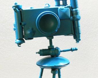 Scrap Metal sculpture Camera