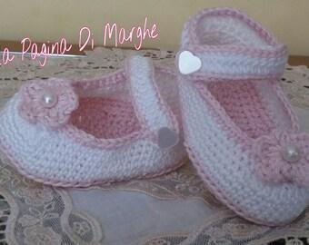 Model 3-6 months ballerina shoes