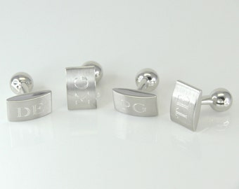 Personalized and individual cufflinks made of 925 sterling silver - the perfect gift for him
