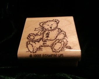 Used - Stampin' Up! Rubber stamp - Teddy bear - Excellent condition