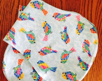Birds Burp Cloth