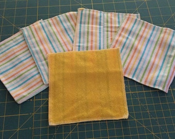 5 cloth wipes