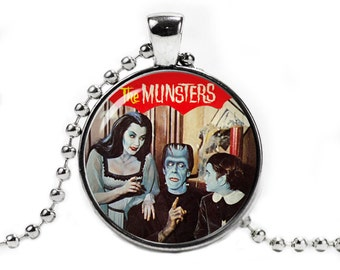 The Munsters Necklace Herman Lily Eddie Munster Pendant Munsters Jewelry Fandom Jewelry Fangirl Fanboy