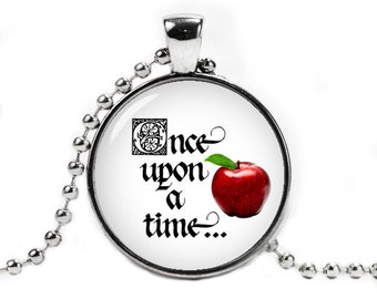 Once upon a time Necklace Pendant Once upon a time Jewelry Cosplay Fangirl Fanboy