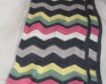 Hand made crochet rug