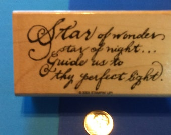 New Christmas Prayer Rubber Mounted Stamp Scrapbooking