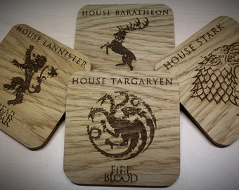 Game of Thrones Inspired Drinks Coasters - Set of Four