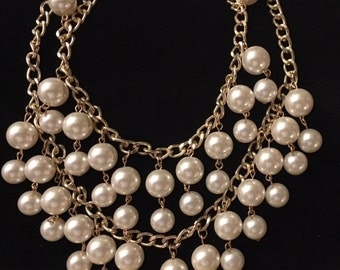 Layered Pearl Necklace for women and teens