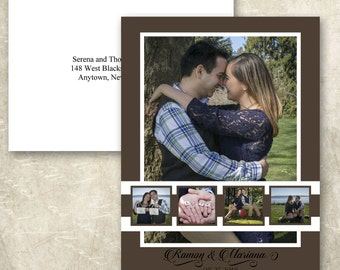 Multiple Photo Save the Date Card