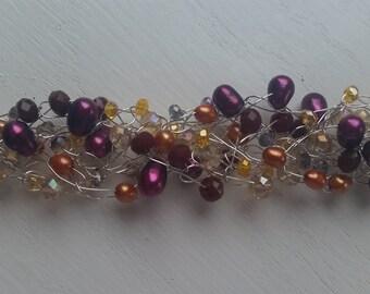 Crocheted wire bracelets