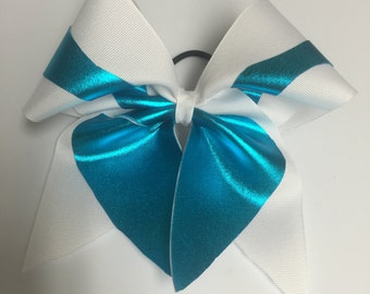 Bow- white and teal