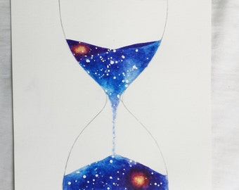 Outer Space Hourglass 8x10 print