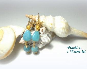 BLUE JADE EARRINGS