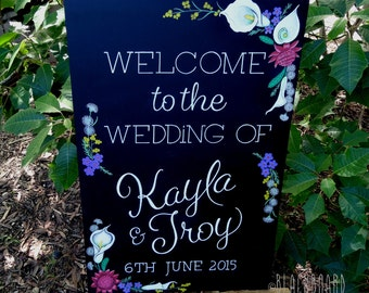 Wedding Engagement Welcome Chalkboard