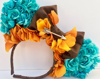 Brave Merida Inspired Floral Ears