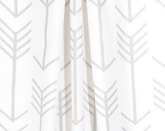 Silver Curtains Gray Arrow Curtain Panels Window Treatments Home Decor Bedroom Nursery Drapery Custom Drapes