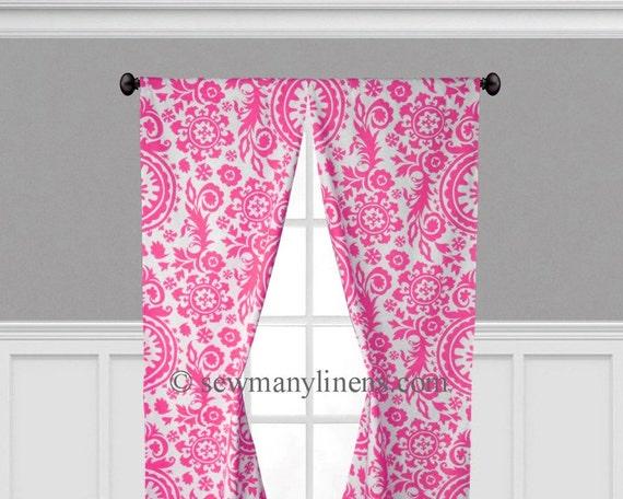 pink curtains nursery bedroom window treatments curtain panels pink