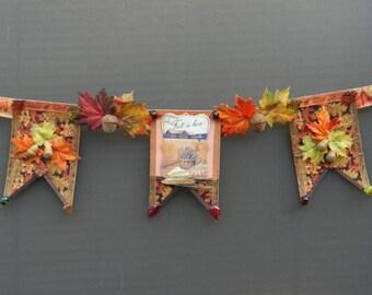 Fall Autumn Acorn Banner
