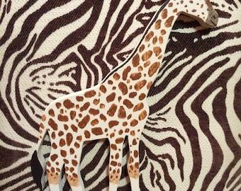 Hand Painted Wood Giraffe