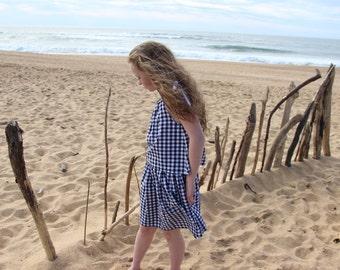 Skirt girl, skirt girl, skirt one size, adjustable, skirt gingham, midi skirt
