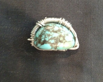 Turquoise Silver Wrap