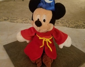 Mickey Mouse the sorcerer plush  bean bag collectors figure