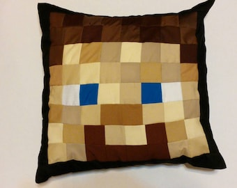 "Steve Minecraft Inspired Pillow (20""x20"")"