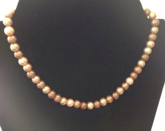 Shades of Brown Bead Necklace