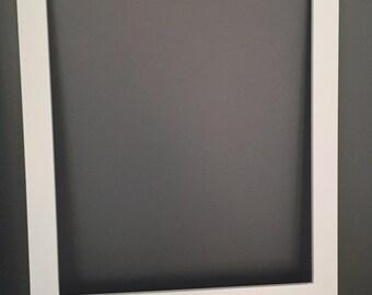 Plain white polaroid frame photobooth