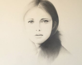 As If Original Pencil Drawing Portrait