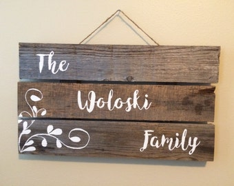 Customize YOUR Family Wood Sign!!