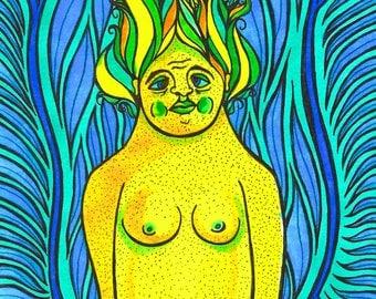 ORIGINAL ART: Lady of the Swamps, Illustration