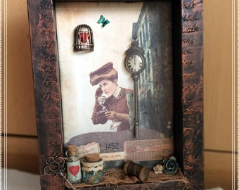 Picture frame vintage steampunk