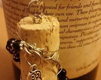 Hand Of Buddha Cork Necklace, boho chic, wine jewelry, OOAK jewelry, corks, wine, jewelry gifts, wine party, winery jewelry, vino, bohemian