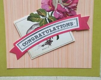 3D Handmade Congratulations Greeting Card