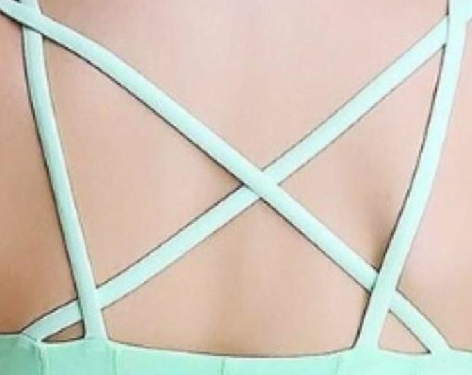 NEW! Mint Green Crossback Mesh Tank