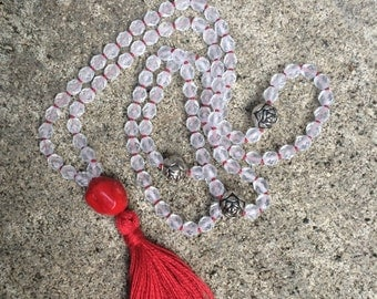 108 Mala Beads Prayer Beads 8mm fire polish